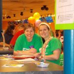 Administrative Assistant-Special Events Tracy Donoff (left) and Youth Activities Coordinator Brianna Reading