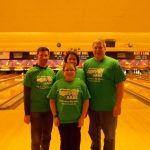 Andy M and his team from BB&T in a quick break from bowling those strikes and spares