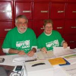 BFKS Committee member Howard Trout and his wife Jill kept the Pledge Sheet Table running smoothly.