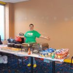 Casework Manager Allison Shollenberger kept the food line stocked for all of our bowlers