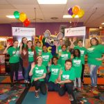 Our Littles and Chuck E Cheese thanking everyone for a great evening at Bowl For Kids Sake at Hiester Lanes!