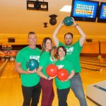 The Bowling Stones (Santander Bank) were bowling over the pins at Hiester Lanes.